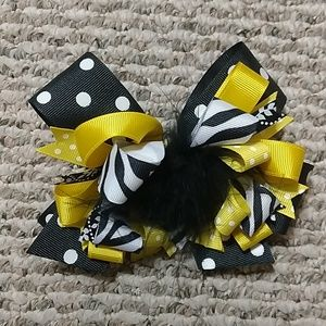 Other - Black/White/Yellow Bow
